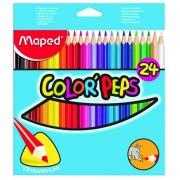 Creioane colorate,24b/set,Jumbo,Maped