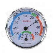 Termometros e higrometro interiores de alta precision plegables - plata
