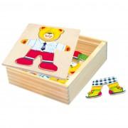 Puzzle Bino Garderobă Ursuleț