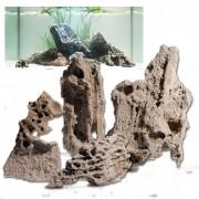 Rocas naturales para acuarios - Set 100 cm: 6 rocas naturales, aprox. 6 kg