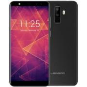 "Telefon mobil Leagoo M9, Procesor Quad-Core 1.3GHz, IPS 5.5"", 2GB RAM, 16GB Flash, Camera Duala 8MP+2MP, Wi-Fi, 4G, Dual SIM, Android (Negru) + Cartela SIM Orange PrePay, 6 euro credit, 4 GB internet 4G, 2,000 minute nationale si internationale fix sau SM"