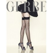 Gerbe - Exclusive subtle diamond pattern stockings Parisienne