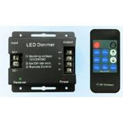 Led szalag dimmer + rádiós vezérlő távirányítóval, egyszínű led szalagokhoz, led modulokhoz. 18A, 216W. Life Light Led 2 év garancia!