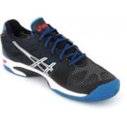 Asics Gel-Solution Speed 2 Men Tennis Shoes For Men(Black, Silver, Blue)