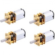 Stookin 4pcs N20 3.7V - 6V 100 RPM Micro Gear Reduction DC Motor with 301 Metal Gearbox For RC Car Robot Toys DIY