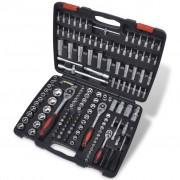 """vidaXL Sada 193 ks 1/4"""", 3/8"""" a 1/2"""" nástavcov na kľúče a ráčnové nástroje"""