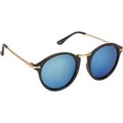 Arzonai Rising Star black MA-006-S5 Unisex Round Sunglasses