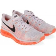 Nike WMNS FLYKNIT AIR MAX Running Shoes For Women(Purple, Black, Orange)