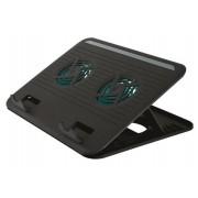 Notebook állvány, ventilátorral, USB, TRUST Cyclone (TR17866)