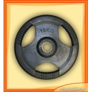 Rubber plate with grip 50mm (15 kg)