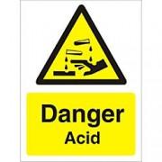 Unbranded Warning Sign Acid Plastic 20 x 15 cm