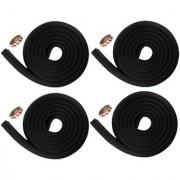Kuhu Creations Premium Kid's Safety Furniture Edge Cushion Protector 2 meter Corner Bar Strips (4 Pcs Black)