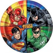 Unique Justice League Dinner Plates, 8ct