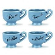 Set de 4 cani de ceai
