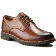 Półbuty CLARKS - Montacute Hall 203510857 Dark Tan Leather