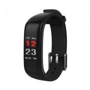 Coromose Bluetooth 4.0 Pantalla a color Pulsera inteligente Monitor de ritmo cardíaco Actividad para dormir Rastreador de salud Ciclismo Pulsera deportiva IP67 Ornamento de regalo resistente al agua black
