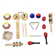 HATCHMATIC Percussion Set Kids Children Toddlers Music Instruments Toys Band Rhythm Kit with Case: Red