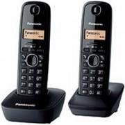 Bežični DECT telefon Panasonic KX-TG1612FXH DUO crni