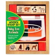 Детски дървени печати с диви животни, 11638 Melissa and Doug, 000772116381