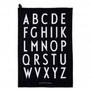 Classic Tea Towel Schwarz Design Letters