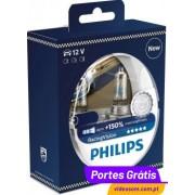 Philips Racing Vision + 150 % H7 12v 55w ( 2 Lâmpadas )
