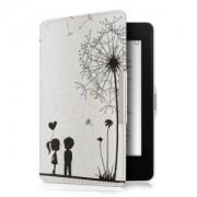 kwmobile Flipové pouzdro s designem chmýří pro Amazon Kindle Paperwhite 3 - černá