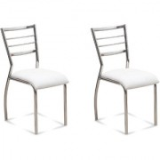 Fabsy Interior - Classy Stainless Steel Chair In White By Fabsy Interiors (Buy 1 Get 1 Free)