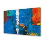 Tablou Canvas Premium Abstract Multicolor Culori Pe Panza Decoratiuni Moderne pentru Casa 80 x 160 cm