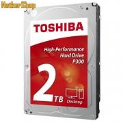 Toshiba HDWD120UZSVA 2TB 64MB 7200rpm P300 SATA3 Merevlemez, Winchester, HDD (2 év garancia)