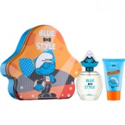 The Smurfs Blue Style Brainy coffret II. Eau de Toilette 50 ml + gel de duche 75 ml