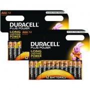 Duracell Plus AAA 2 Packungen von 8+4 gratis (MN2400-X24)