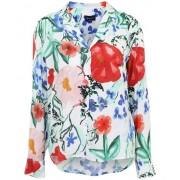 Garden silky blouse