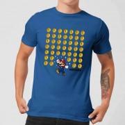 Nintendo Super Mario Coin Drop Heren T-shirt - Blauw - XL - Blauw