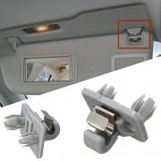 Alcoa Prime 1Pcs Car Interior Sun Visor Hook Clip Bracket For Audi A1 A3 A4 A5 Q3 Q5 Q7 Grey
