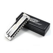 Easttop T008 10 Holes Blues Harmonica C Tone Sliver Color for Beginner