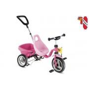 Tricicleta copii Roz Bombon - PUKY.Se livreaza montata!