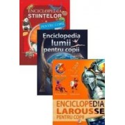 Pachet Enciclopedia lumii pentru copii + Enciclopedia Larousse pentru copii + Enciclopedia stiintelor