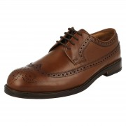 Clarks Mens Clarks Formal Brogue Style Lace Up Shoes Coling Limit Tan (Bro...