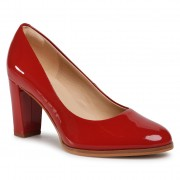 Ниски обувки CLARKS - Kaylin Cara 2 261546344 Red Patent Leather