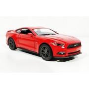 Jack Royal Kinsmart 1:38 Scale Model 2015 Ford Mustang Gt Toy Car, Multi Color (Red)