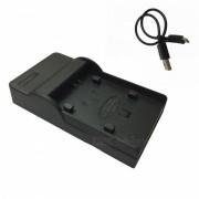 Ismartdigi Micro USB cargador de bateria de la camara movil para Canon - Negro