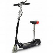 Sonata Електрически скутер със седалка 120 W, цвят черен