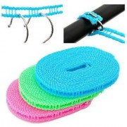 Kudos 5 Meters Windproof Anti-Slip Clothes Drying Nylon Rope with Hooks