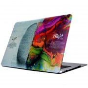 Para MacBook Air De 11,6 Pulgadas (2011 - 2013) A1370 Y A1465 / Md711 / Mc968 / Mc969 / Md712 / Md224 Cerebro Izquierdo Derecho Patrón Cerebral Laptop Water Decals PC Estuche Protector