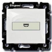 Выключатель с ключом-картой с подсветкой Legrand Valena белый