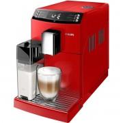 Espressor super-automat Philips EP3363/10, Sistem filtrare AquaClean, Carafa de lapte integrata, 5 setari intensitate, Optiune cafea macinata, 6 bauturi, Rosu