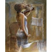 Gaira Malování podle čísel Dívka s houslemi M1624