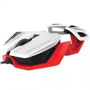 Mouse Mad Catz R.A.T. 1 WHITE-RED 3500 dpi, Optic, PixArt PMW3320, 6 Butoane, USB