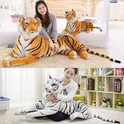 New Soft Stuffed Animals Tiger Plush Toy Pillow Cartoon Animal Big Pattern Kawaii Doll Cotton Girl Toy for