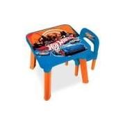 Mesinha Infantil Fun De Atividades Com Cadeira - Hot Wheels